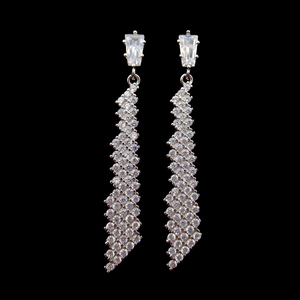 Silver Zircon Earrings