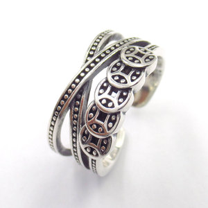 Silver Black Thai Ring