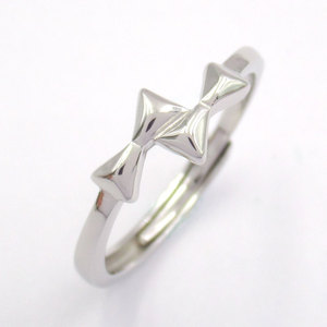 Silver Bow-Knot Shaped Plain Ring